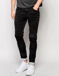 Черные джинсы скинни Replay Mirhal - Черный крашеный деним