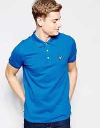 Синяя футболка-поло с логотипом в виде орла Lyle & Scott