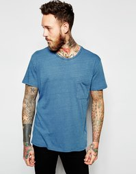 Синяя выбеленная футболка Dr Denim Russ - Выбеленный голубой