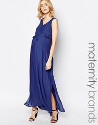 Платье макси для беременных Mamalicious Ketty - Сумеречный синий Mama.Licious