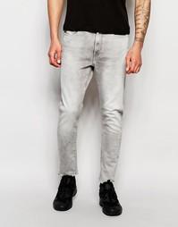 Эластичные серые джинсы суперслим G-Star Type C 3D