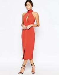 Платье миди цвета ржавчины C/meo Collective Stolen - Красно-бурый