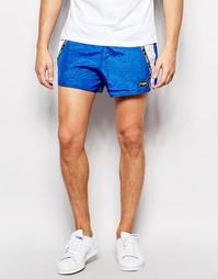 Укороченные шорты с синей лентой Jaded London - Синий
