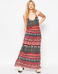 Платье макси с ацтекским принтом Liquorish - Мульти