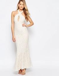 Кружевное платье макси с вырезом-капелькой Jarlo Priscilla