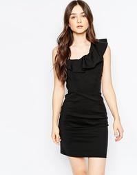 Платье-футляр с оборками Vila - Черный