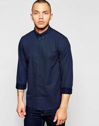 Поплиновая рубашка с принтом пейсли Dickens and Browne - Синий