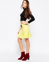 Расклешенная мини-юбка Madam Rage - Желтый