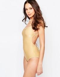 Слитный купальник с эффектом металлик и завязкой сзади Melissa Odabash