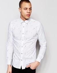 Рубашка с мелким геометрическим принтом Only & Sons - Белый
