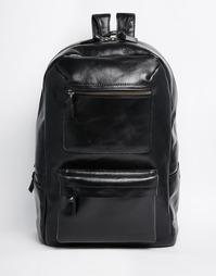 Черный кожаный рюкзак Royal RepubliQ Track - Черный