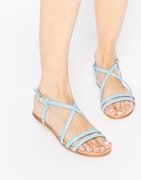 Кожаные сандалии с ремешками Miista Jo - Синий