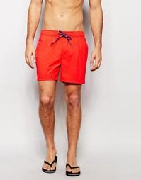 Шорты для плавания с принтом флага Tommy Hilfiger - Красный