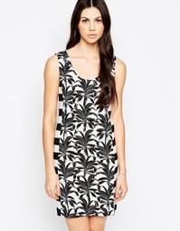 Платье-футболка с принтом пальм See By Chloe - Черно-белый
