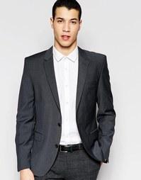 Темно-серый пиджак узкого кроя из шерстяной смеси Selected Homme