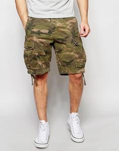 Камуфляжные шорты Abercrombie & Fitch Cargo - Темный камуфляж