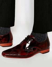 Туфли с ромбовидным узором Jeffery West - Коричневый