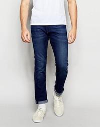 Выбеленные джинсы слим Boss Orange - Синий