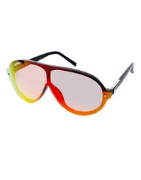 Солнцезащитные очки-маска расцветки заката Linda Farrow For Phillip Li