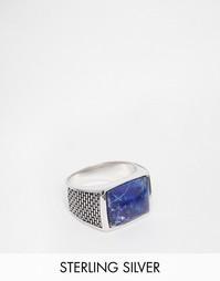Серебряное кольцо с синим камнем Seven London - Серебряный