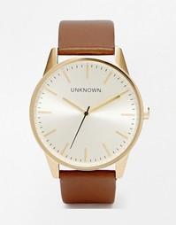 Часы с коричневым кожаным ремешком Unknown - Рыжий