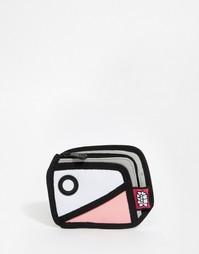Кошелек в стиле колор блок JumpFromPaper - Розовый