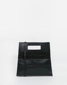 Кожаная стеганая сумка через плечо с откидным клапаном Becksondergaard