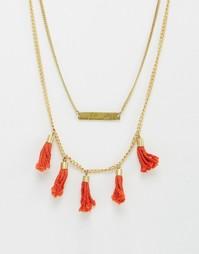 Ярусное ожерелье с кисточками Made - Золотой