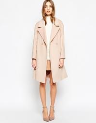 Бледно-розовое пальто с застежкой на две пуговицы Helene Berman
