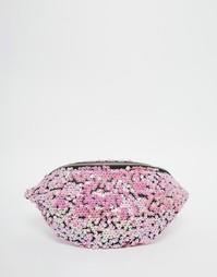Сумка-кошелек на пояс с розовыми переливающимися пайетками Jaded Londo