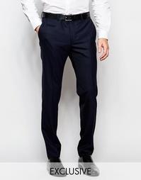 Эксклюзивные полушерстяные зауженные брюки стретч Number Eight Savile