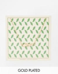 Ожерелье с подвеской-листиком и открыткой Johnny Loves Rosie