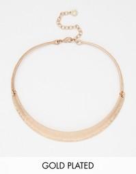 Позолоченное ожерелье-гривна Pilgrim - Розовое золото