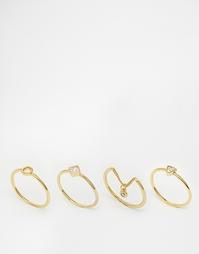 Наборное кольцо Orelia Memento - Золотой
