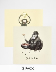 2 открытки с животными Ohh Dear Gorilla & Chimpion - Мульти Gifts