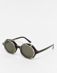 Круглые солнцезащитные очки Han Kjobenhavn Doc - Черный