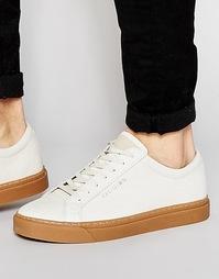 Кожаные кроссовки с отделкой под крокодила Religion - Белый