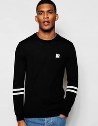Джемпер с логотипом и полосками на рукавах Love Moschino - Черный