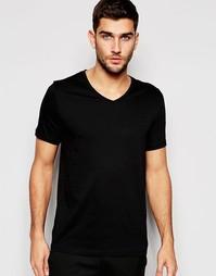 Черная футболка с V-образным вырезом Hugo By Hugo Boss - Черный