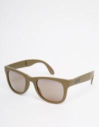 Складывающиеся солнцезащитные очки в серой оправе Vans VUNKJ3R - Серый