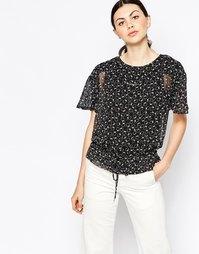 Фактурная рубашка фруктовым принтом See By Chloe - Розовый
