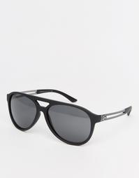 Солнцезащитные очки с плоским верхом Versace - Черный