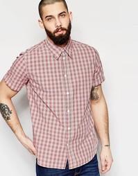 Рубашка в клетку классического кроя с короткими рукавами Paul Smith Je