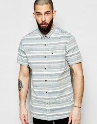 Рубашка в яркую полоску с короткими рукавами Hilfiger Denim - Синий