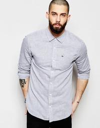 Рубашка из смеси хлопка и льна Hilfiger Denim - Серый