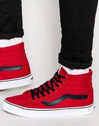 Красные кроссовки Vans Sk8-Hi Reissue V3CAATM - Красный