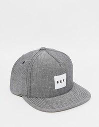 Бейсболка из шамбре с блочным логотипом HUF - Черный