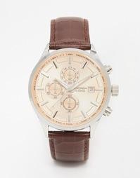 Часы с коричневым кожаным ремешком Sekonda 1105 - Коричневый