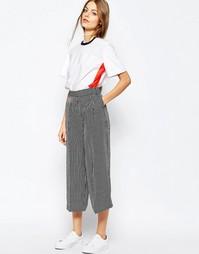 Струящаяся юбка‑брюки в полоску Sportmax Code - 007 черный