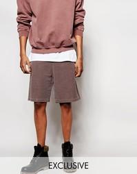 Крашеные шорты Reclaimed Vintage - Коричневый